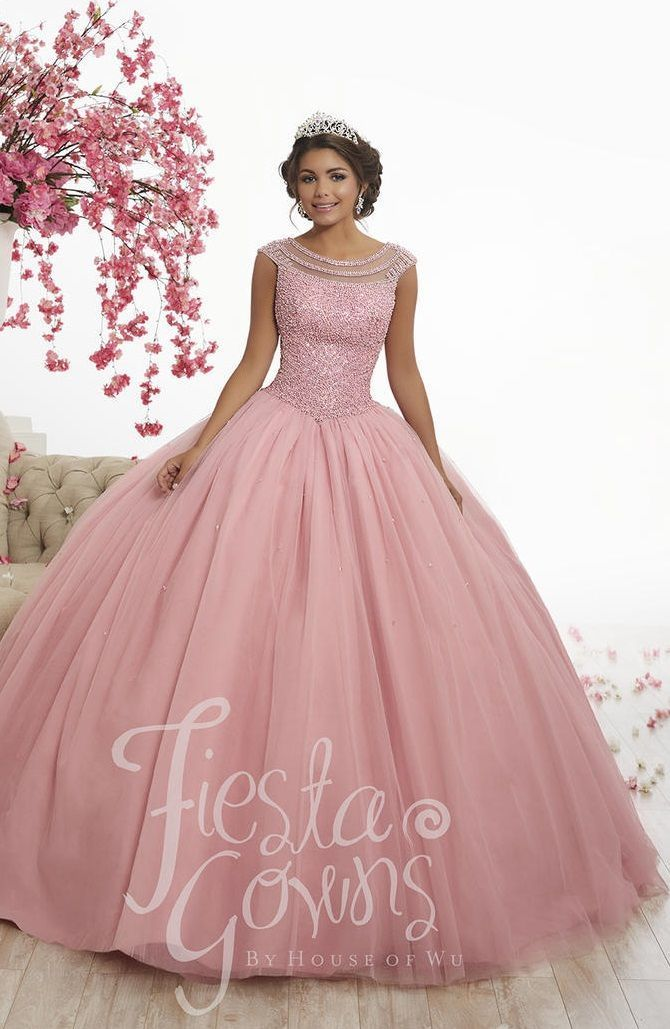 df036776a84 Check out the deal on Wu Fiesta 56340 Beautiful Neckline Quinceanera Dress  at French Novelty  quinceaneradresses