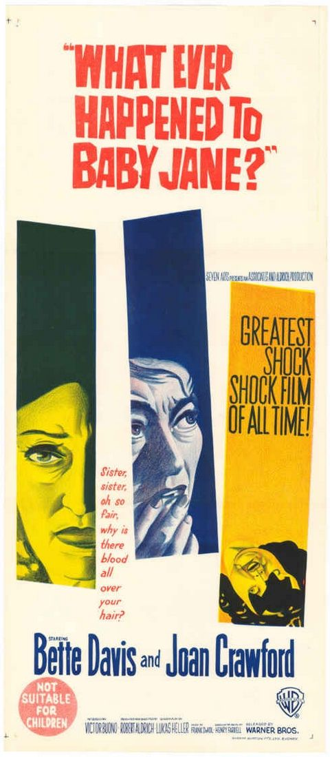 """""""Whatever Happened to Baby Jane?"""" (1962)Bette Davis and Jean Crawford My first scary movie watched on late night tv with my older cousin"""