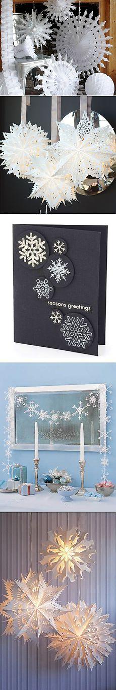 Бумажные снежинки – новогодний декор