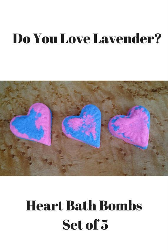 Lovely Lavender Bath Bomb Set Bathbombs Canada Pink Heart