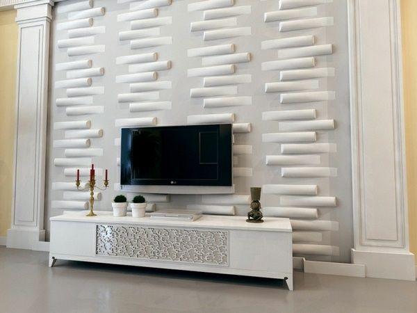3d panneaux salon fabriquer des panneaux muraux mis en place un salon tv mur mural tv peinture. Black Bedroom Furniture Sets. Home Design Ideas
