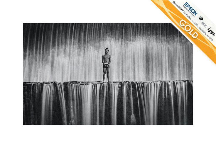 Tukad Unda Waterfall, Klungkung, Bali, Indonesia. Gold Award, Justin Aitken, Portrait Classic Category, Epson NZIPP Iris Awards 2014