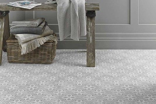 Laura Ashley Mr Jones Dove Grey Wall & Floor Tiles 33x33cm - Tons of Tiles