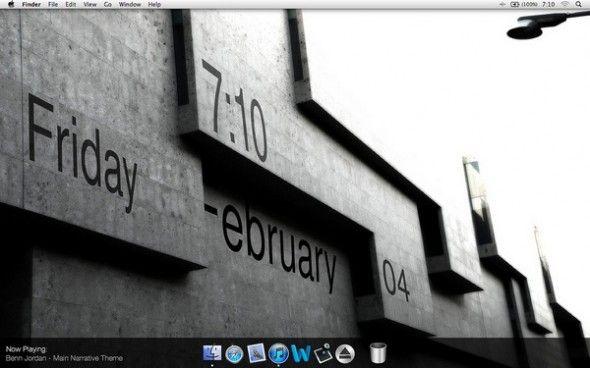 5 Examples of Mac Os Desktop Customization using GeekTool | Desktop Spotting