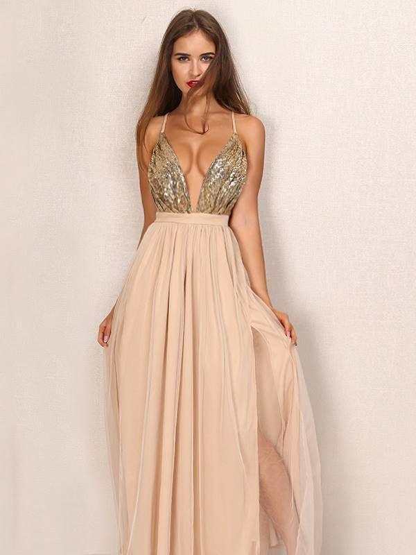 Vestido Longo com Paetês - Compre Online | DMS Boutique