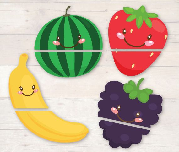 Busy Little Bugs - Matching Fruit Halves  from our Very Fruity Learning Pack