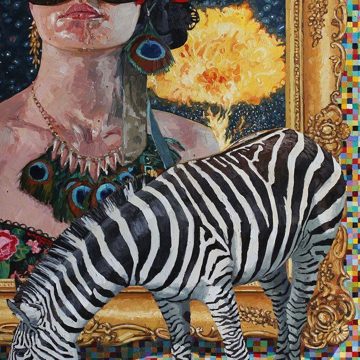 Tor-Arne Moen, 2014.  The candy machine | 170x170 cm | Oil on canvas.