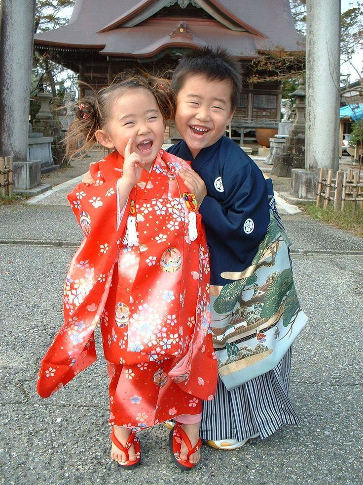 Shichi-Go-San ( seven-five-three ) is a traditional rite of passage.  So cute!