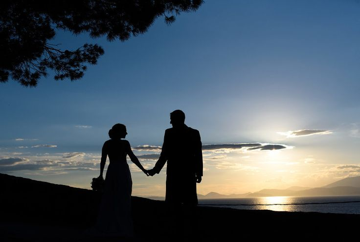 Nina & Owen | Destination Wedding in Greece | Hydra Island #wedding #weddingphotography #destinationwedding  #Greece #couple #silhouette #hydra