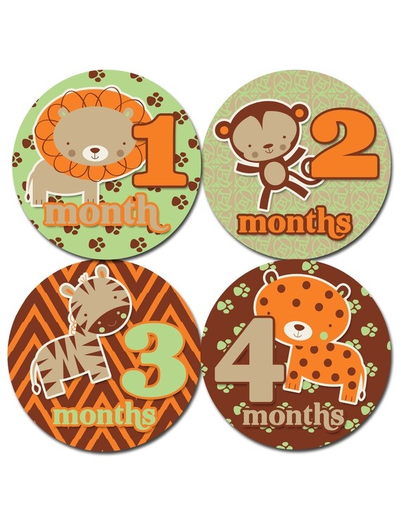 Baby Monthly Onesie Stickers will be getting these for gabi thanks to Jenna