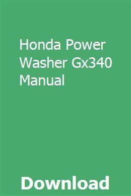 Honda Power Washer Gx340 Manual pdf download