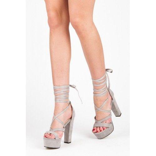Dámské sandály Sergio Todzi Kumerda šedé – šedá Krásné a dlouhé nohy za vteřinku! Velmi atraktivní sandály s hrubým podpatkem zajistí bezpečnou chůzi. Šněrování vám upevní krok a zároveň působí velmi žensky. Výborně se hodí …