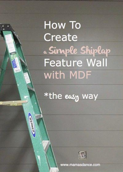 How to Install Simple MDF Shiplap | via Ashlea of …