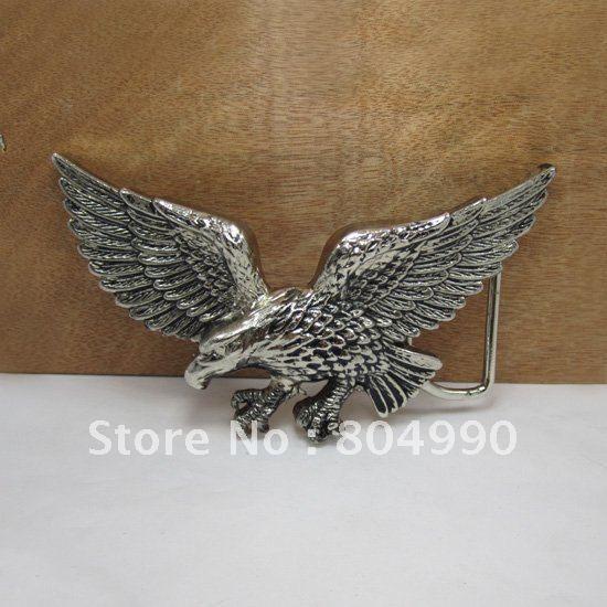 Летающий орел пряжки ремня с серебряной отделкой FP-01247-2 подходит для 4 см wideth пояс с непрерывной складе