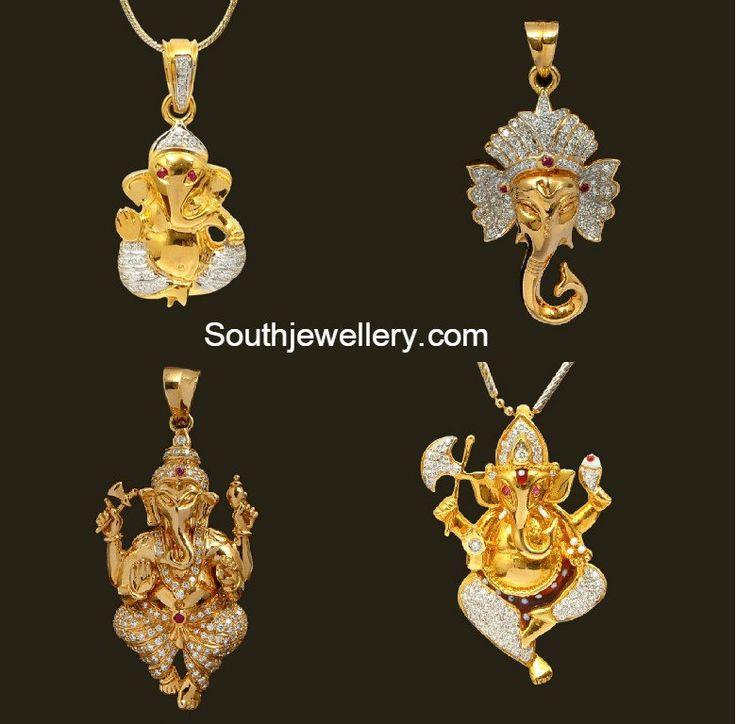 Diamond Ganesh Pendants