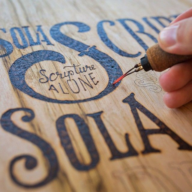 Instagram media by handletteringco - // working on some new wood burned pieces