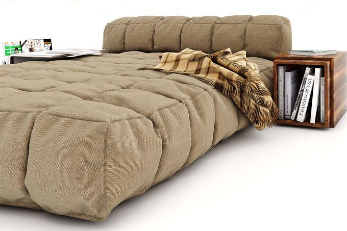 Modern bed by Yuri-U on Creative Market