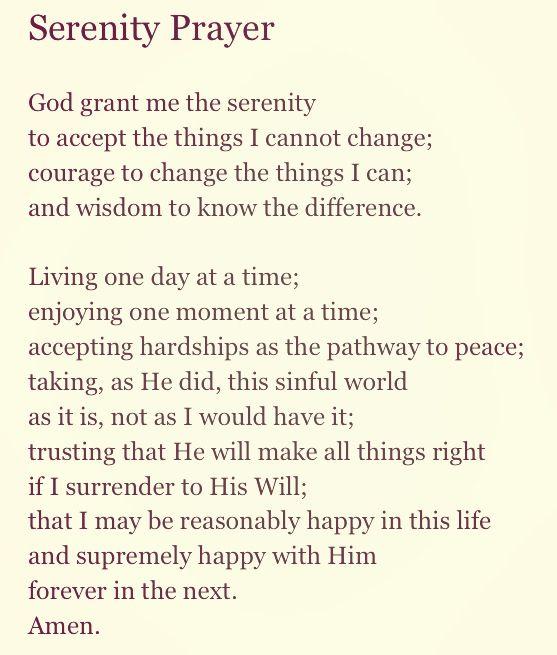 Serenity Prayer Worksheet - Photo Trend & Ideas