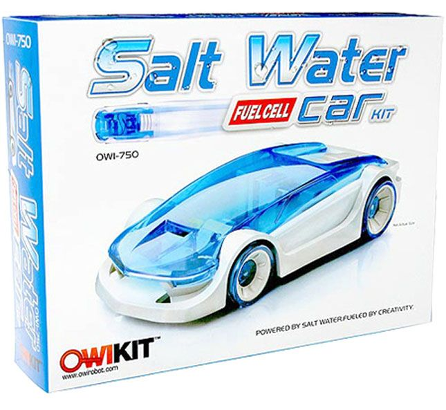 Salt Water Fuel Cell Car and thousands more of the very best toys at Fat Brain Toys. Join in on the quest for cleaner energy with a real saltwater-powered race car! Drop a drop of saltwater onto the fuel cell, add the magnesium plate, snap on the cover, push it into the car, and VROOM! - The car takes off fast!