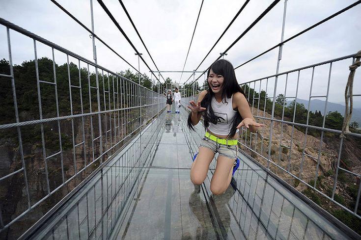 Terrifying Photos Of World's Longest Glass Bridge