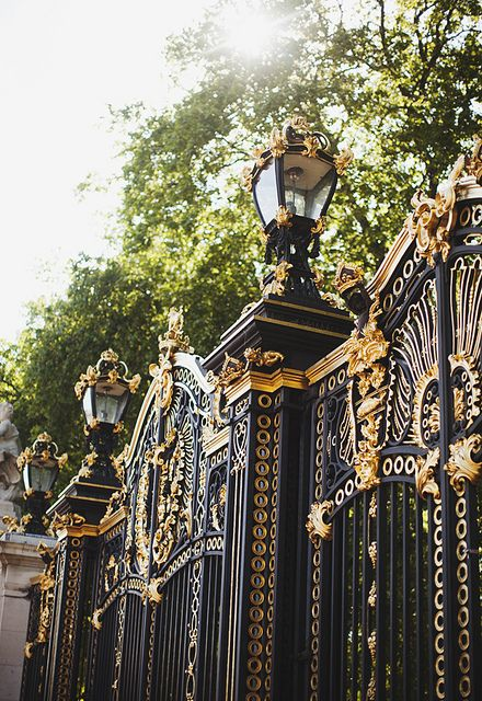 ❦ 2329 by Carrie WishWishWish on Flickr. The Gates of Buckingham.