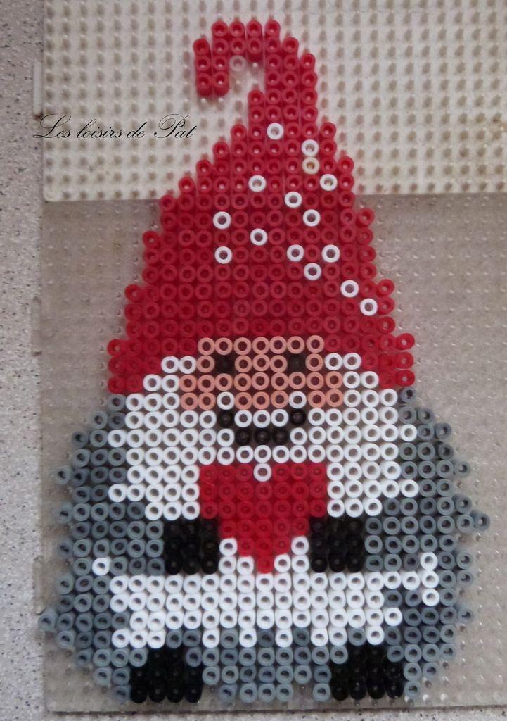 Nisse - Christmas hama beads by Les loisirs de Pat