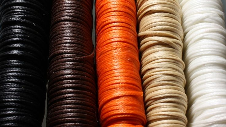 Selection od waxed threads using to SIGN handcrafted accessories