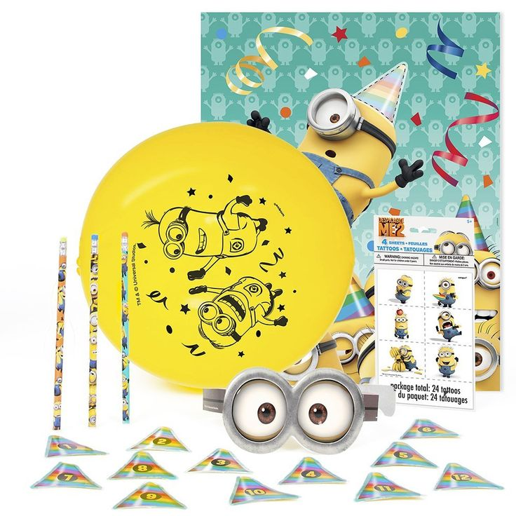 Despicable Me Minions Party Activities Kit for 12, Novelty Games - Amazon Canada