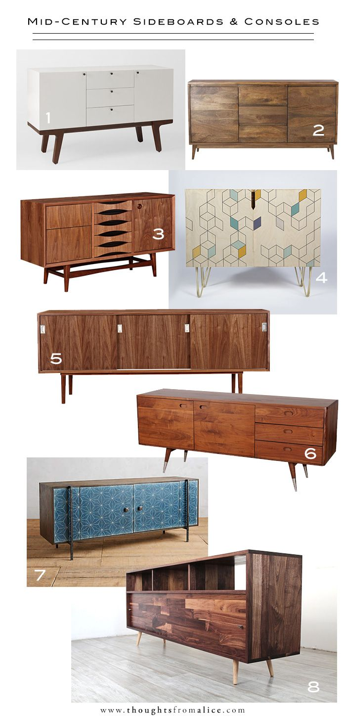 Design Crush: Mid-Century Sideboards & Consoles
