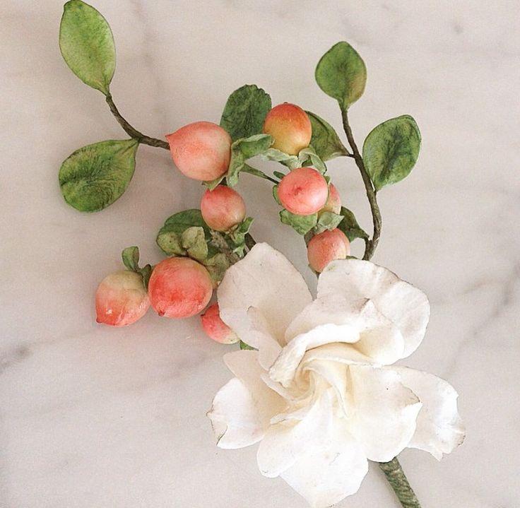 Maggie Austin Sugar Flowers   boutonnière  workshop   May 2015 #maggieaustincake