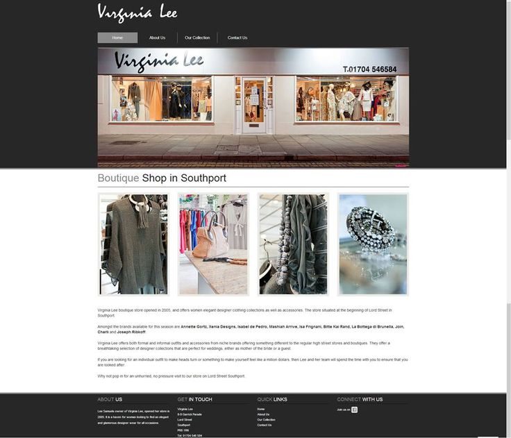 http://www.virginialee-southport.co.uk/ - Virginia Lee is a ladies boutique located in Southport, offering elegant designer clothing collections as well as accessories