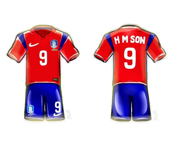 BRAZIL WORLD CUP KOREAUNIFORM⚽ 손흥민 선수가 입은 유니폼