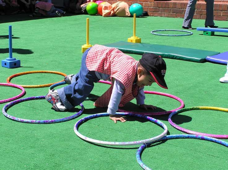 Ring Crawl Activity: (Focus: Eye hand and foot coordination) The client will utilize fine and gross motor components while crawling while placing hands and feet within the rings to complete the obstacle course.