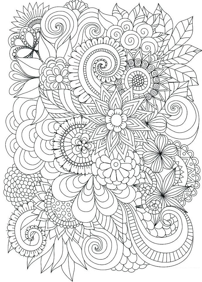 Free Printable Complicated Coloring Pages Abstract Coloring Pages Mandala Coloring Pages Flower Coloring Pages