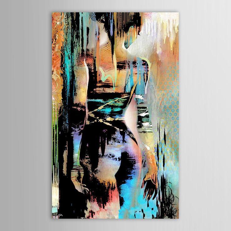 Ручной росписью холст модернизм абстрактный обнаженной девушки назад художественная роспись для гостиной спальня декор картин стене гостиной купить на AliExpress