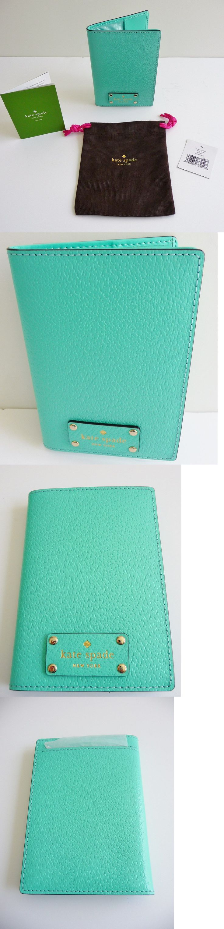 ID and Document Holders 169279: Kate Spade Newyork Nwt Wellesley Light Blue Leather Passport And Ticket Holder -> BUY IT NOW ONLY: $56 on eBay!