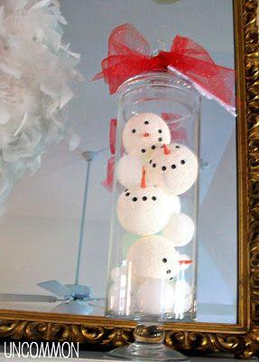 Winter Wonderland Snowman Apothecary Jars