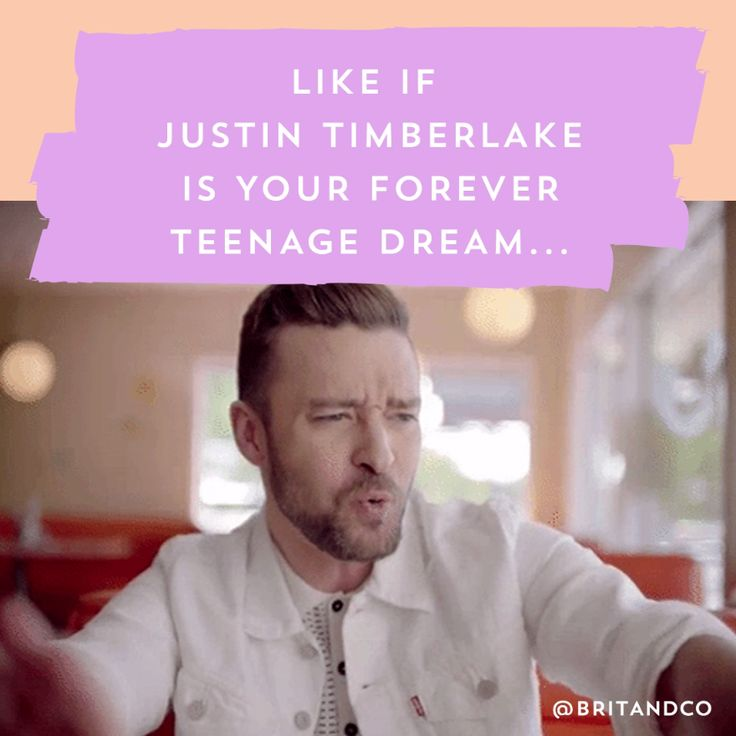 Can't stop the feelin' for Justin Timberlake.