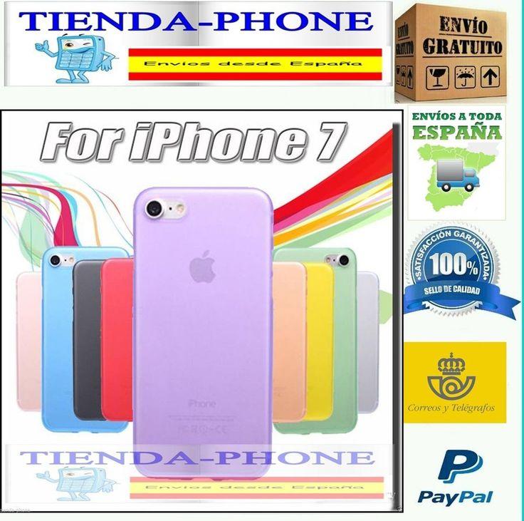 FUNDA TPU LISA IPHONE 7 (Elige Color) NEGRA ROJA AZUL BLANCO NEGRO NARANJA ROJO.