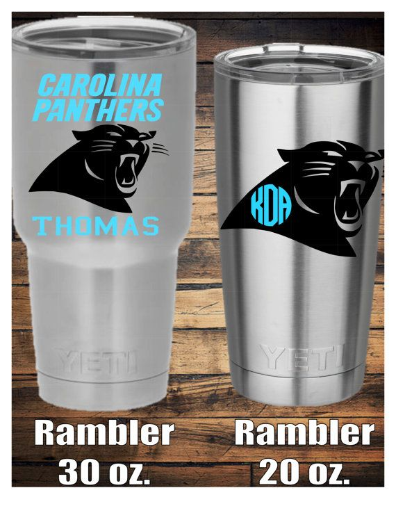 Carolina Panters Decal by TheCraftyAggie on Etsy
