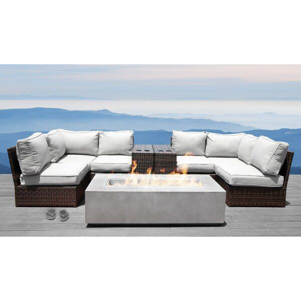 Vasil 9 Piece Sectional Seating Group With Cushions In 2020 Furniture Sofa Set Seating Groups Outdoor Sectional Sofa