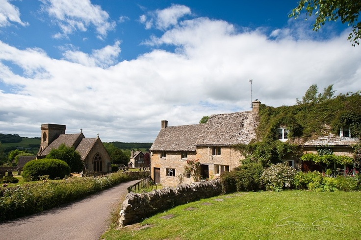 The church and cottages in the picturesque Cotswold village of Snowshill