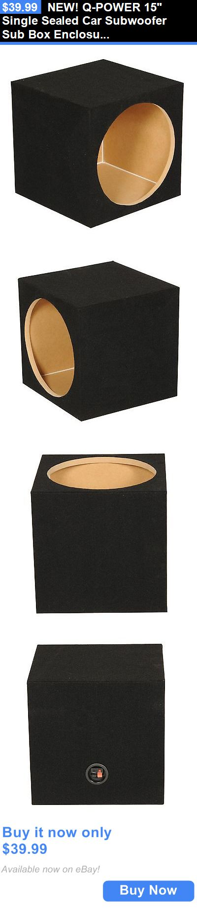 Speaker Sub Enclosures: New! Q-Power 15 Single Sealed Car Subwoofer Sub Box Enclosure|16.5 X 16.25 X 13 BUY IT NOW ONLY: $39.99
