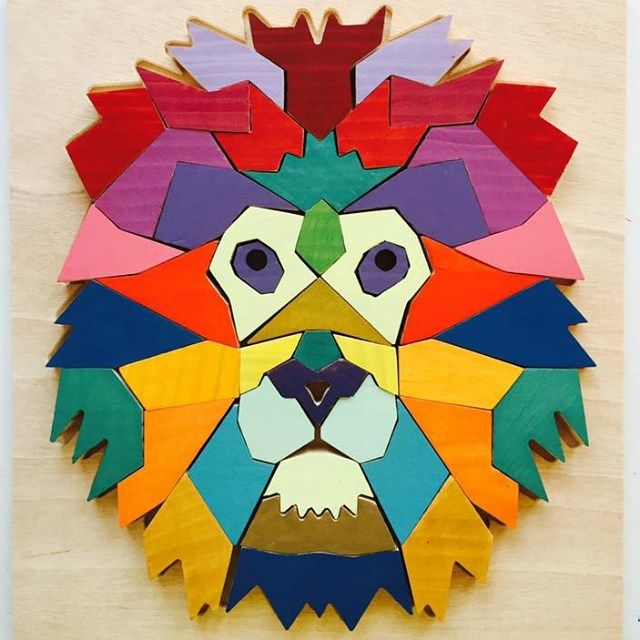 Sunday inspiration: a colourful, handmade puzzle by Ephimera Play ❤️