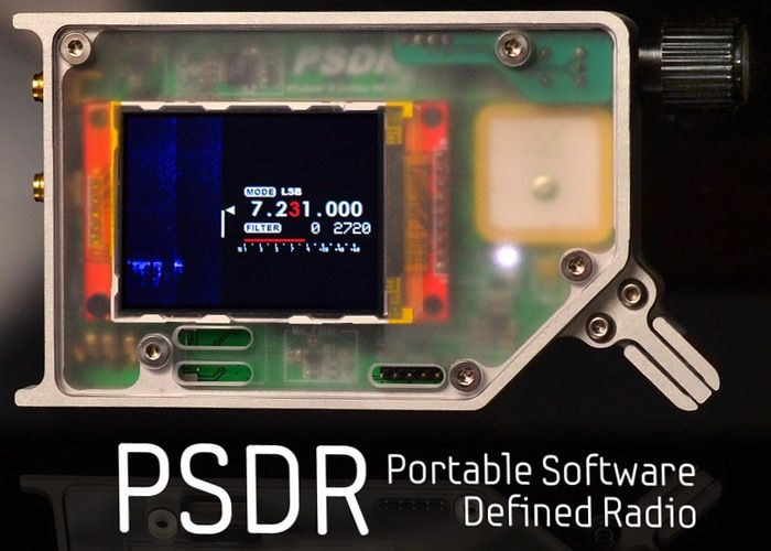 PSDR Portable Software Defined Radio - The PSDR portable software defined radio is a stand-alone HF/Shortwave Software Defined Transceiver and fully open source. PSDR also includes a vector network analyser and GPS. It has been created by Michael Colton. | Geeky Gadgets