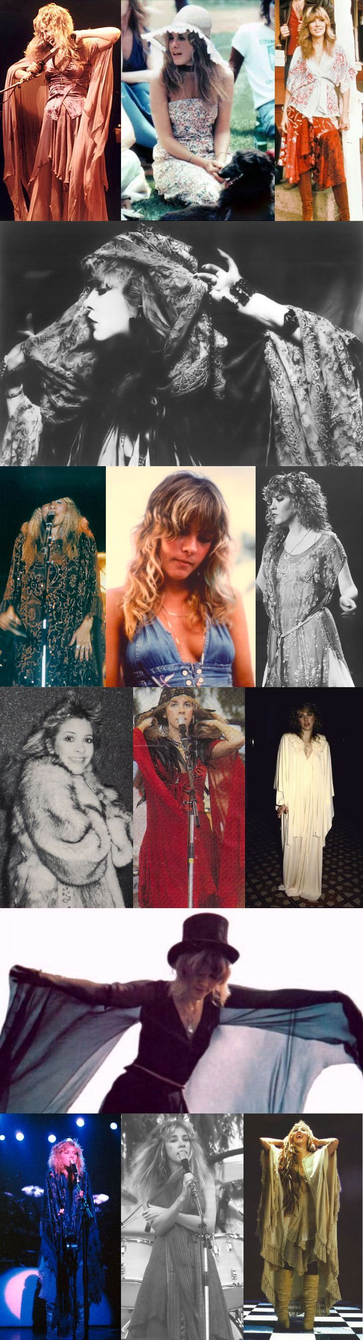 Stevie Nicks makes me want to dress like a gypsy.