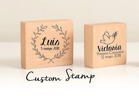 sello comunión sellos personalizados niños comunion sellos