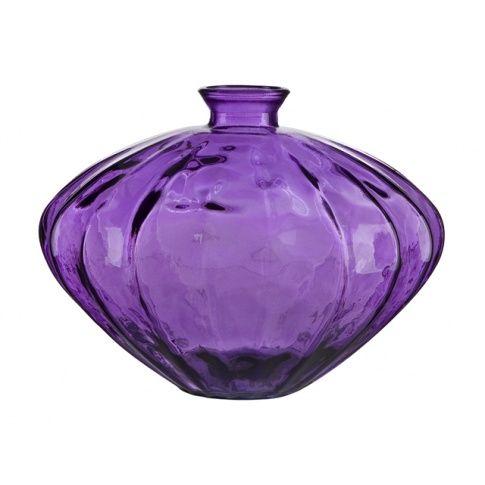 Ozdobny wazon ze szkła wys.28 fiolet w sklepie Dedekor.pl
