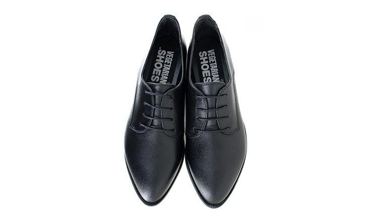 Veganer Schnürschuh   VEGETARIAN SHOES Brunswick Shoe Black