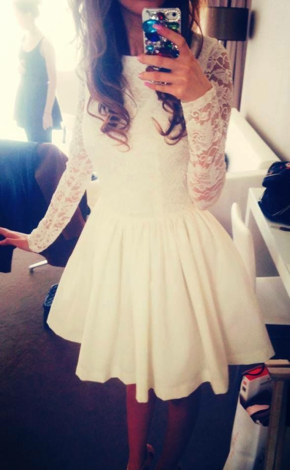 White Lacey Skater Dress
